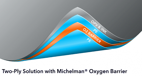 two layer film solution with michelman oxygen barrier